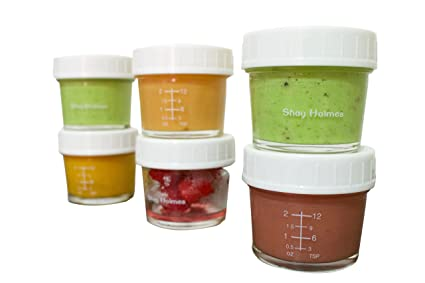 Amazoncom Glass Containers For Baby Food Snacks Yogurt Dried