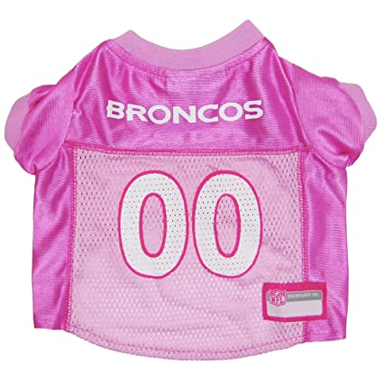 3bbfce7457a Amazon.com : Pets First NFL Denver Broncos Jersey, Small, Pink : Pet ...