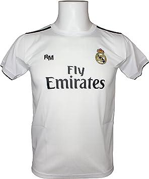 Real Madrid FC Camiseta Adulto Replica Oficial Primera Equipación 2018/2019 (XXL): Amazon.es: Deportes y aire libre