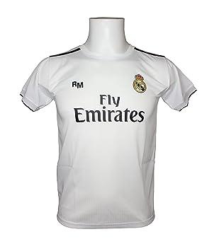 Real Madrid Camiseta Adulto Sin Dorsal. Réplica Oficial de la Primera Equipación Temporada 2018-2019 - Talla S, Blanco: Amazon.es: Deportes y aire libre