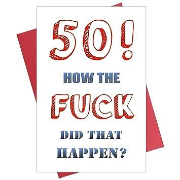 Amazon.com: Tarjeta de 50 cumpleaños divertida para marido ...
