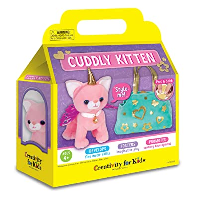 Creativity for Kids Cuddly Kitten Plush Toy - Kitty Stuffed Animal and Pet Carrier Purse: Toys & Games