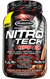 MuscleTech Nitro Tech Ripped Whey Protein Isolate Weight Loss Formula, Chocolate Fudge Brownie, 2 Pounds