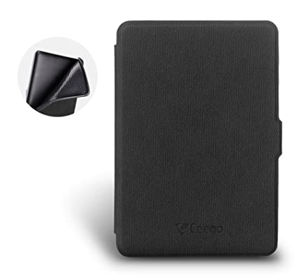 pretty nice 091f6 273d2 Ceego Rico Series Flip Cover for Kindle Paperwhite [ Smart Cover with Auto  Sleep and Wake ] (Elephant Black)