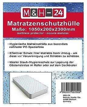 HM M&H-24 4 Piezas de Fundas de colchones Cubierta, 1050X200X2300Mm 80µ asegurar la