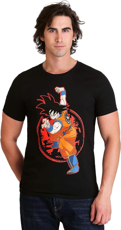 Dragon Ball Z - Goku & Z Stamp Men's Black T-Shirt