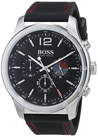 e4e6deb9e95 Hugo Boss Homme Chronographe Quartz Montres bracelet avec bracelet en  Silicone - 1513525
