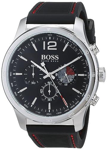 Hugo BOSS Reloj Cronógrafo para Hombre de Cuarzo con Correa en Silicona 1513525: Amazon.es: Relojes