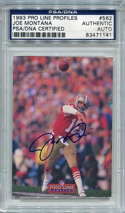 quality design f2dbd 95b6c Joe Montana San Francisco 49ers PSA/DNA Certified Authentic ...