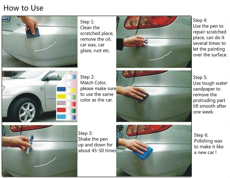 Car colour match pen - Amazon Com Iche Car Scratch Repair Remover Filler Sealer Painting Pen Car Coat Applicator For Different Color Cars 2 Pack Silver Gray Automotive