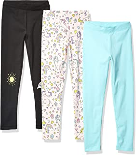 ZGHF/_70# New slaixiu 3-Pack Printing Flower Girl Leggings Kids Classic Pants 4-13Y