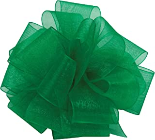 "product image for Offray Berwick LLC 979204 Berwick Simply Sheer Asiana Ribbon -1-1/2"" W X 100 yd - Emerald Ribbon"