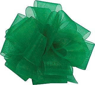 "product image for Offray Berwick LLC 979204 Berwick Simply Sheer Asiana Ribbon -1-1/2"" W X 100 yd - Emerald Ribbon"
