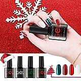 MICHEYGel UV Gel Nail Polish Set with 4pcs, Gel Nail Polish Kit, 0.25 fl oz