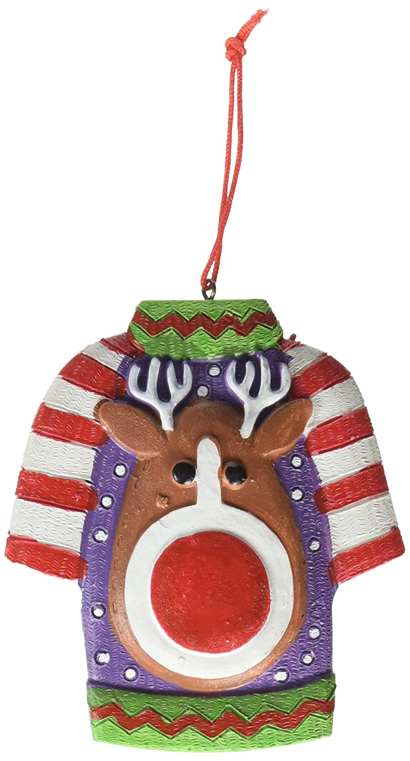 FE-OTC The Legend of Ugly Christmas Sweater Holiday Ornament Gag Gifts by FE