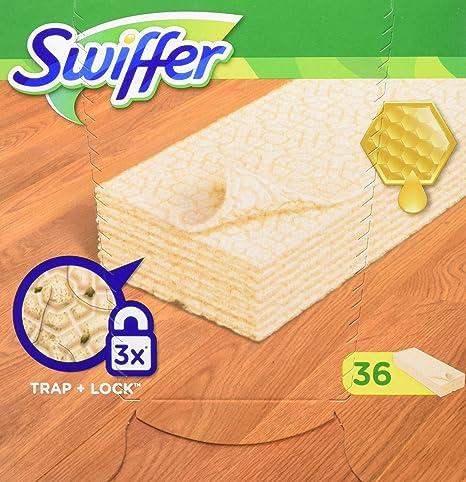 Swiffer toallitas húmedas, contra polvo, para madera y suelos de parqué laminado, 36