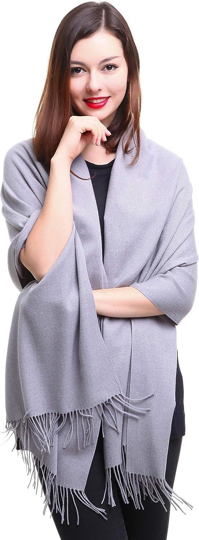REEMONDE Large Extra Soft Cashmere Blend Women Pashmina Shawl Wrap Stole Scarf