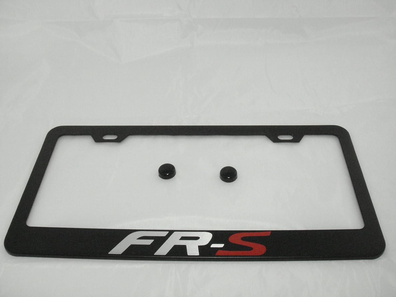 PCR WRX Black License Plate Frame with Caps