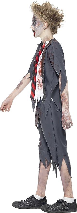 Smiffys-43022L Halloween Disfraz de colegial Zombi, con pantalón ...