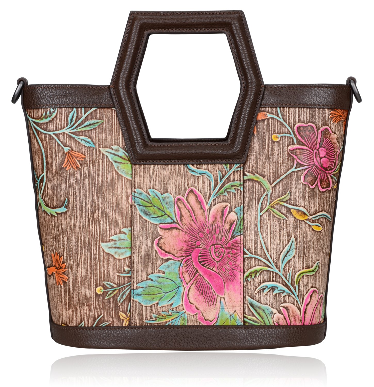Pijushi Women's Ladies Genuine Leather Tote Purse Top Handle Shoulder Crossbody Handbags 170503 (New Brown)