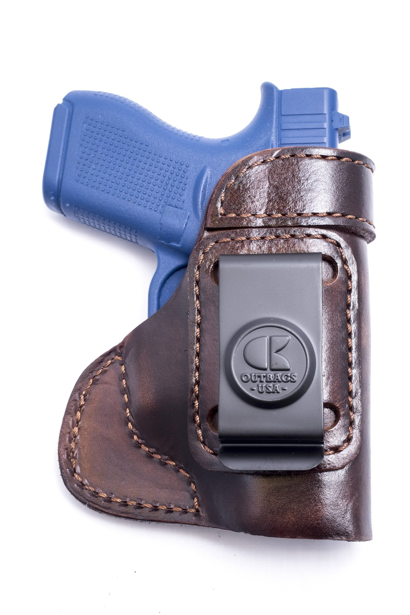 Outbags LOB3S-G42 Brown Genuine Leather Gun Holster