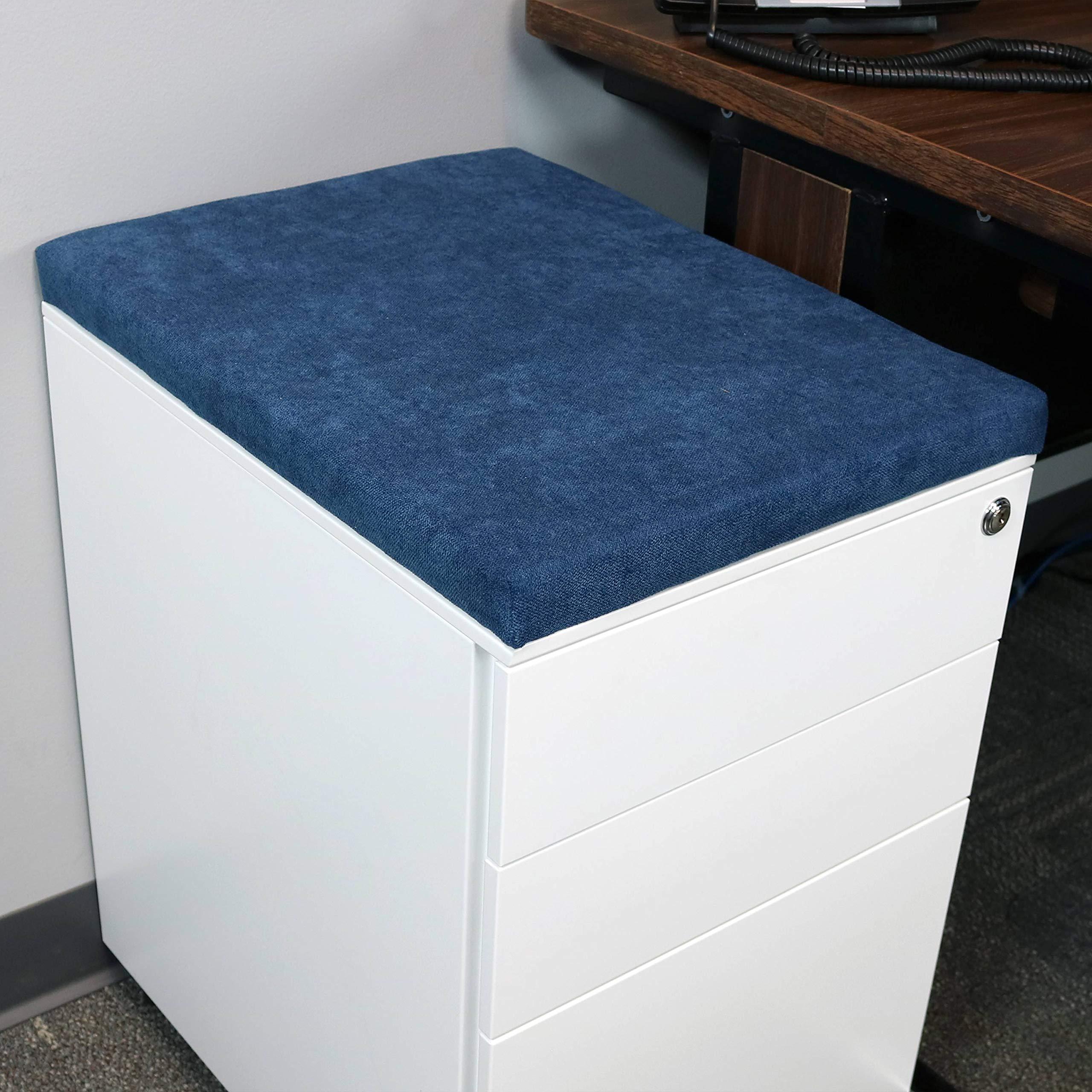 CASL Brands File Cabinet Cushion Seat Top for Mobile Pedestals, Magnetic Back, Blue by CASL Brands (Image #6)