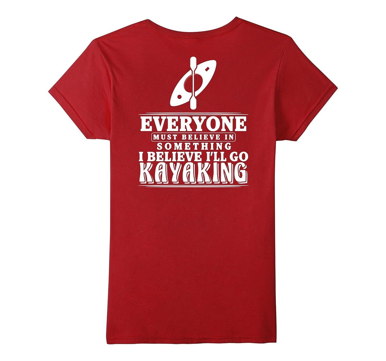 Kayaking T Shirt Kayak Boats Paddling Water Sports Back