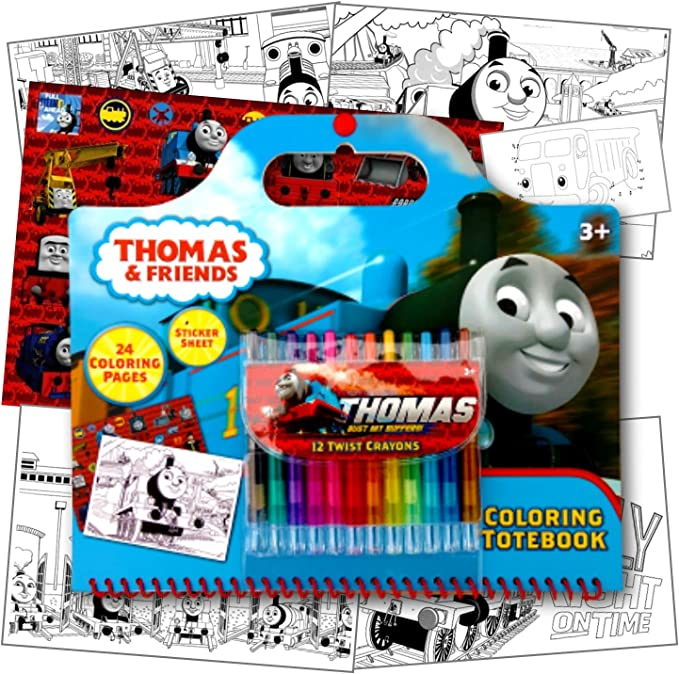 Amazon.com: Thomas The Train Coloring Activity Set With Twist Crayons, Coloring  Book Activity Pages, & 1 Large Sheet Of Stickers ~ Plus 1 Fun Separately  Licensed Coloring Activity Sticker: Toys & Games