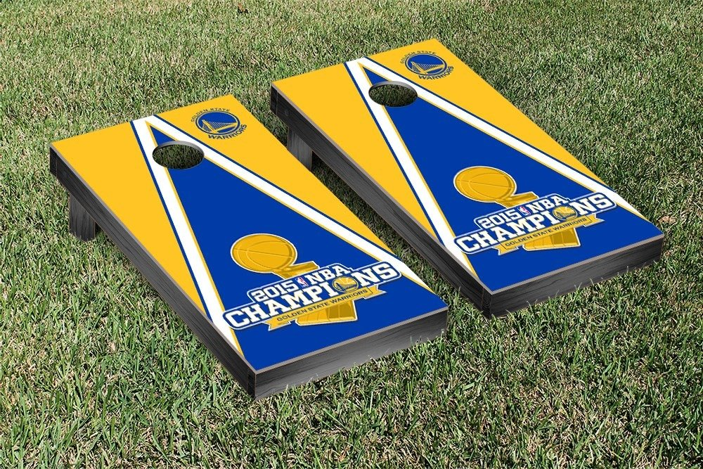 2015 NBA Champions Golden State Warriors Cornhole Game Set Triangle Version