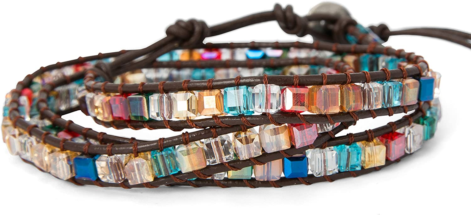 SPUNKYsoul New! Dazzling Handmade Leather Wrap Bracelet Collection