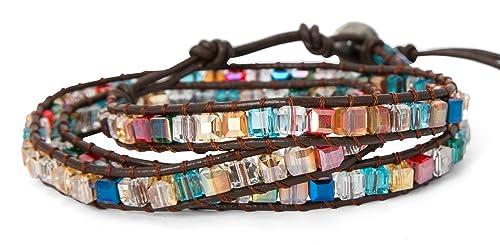 1b37bd6d972a7 SPUNKYsoul New! Dazzling Handmade Leather Wrap Bracelet Collection