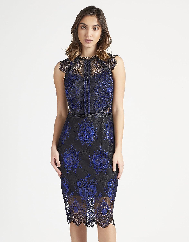 LIPSY Womens VIP Two Tone Lace Midi Dress at Amazon Womens Clothing store: