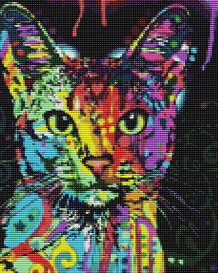 One Cat Full Drill 5D Diamond Painting Embroidery DIY Cross Stitch Kits Decor