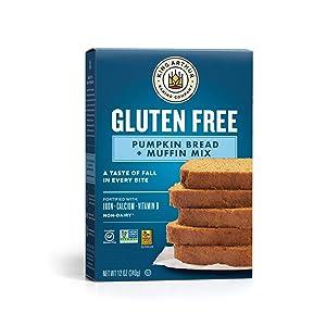 King Arthur, Gluten Free Pumpkin Bread + Muffin Mix, Gluten-Free, Non-GMO Project Verified, Certified Kosher, 12 Ounces