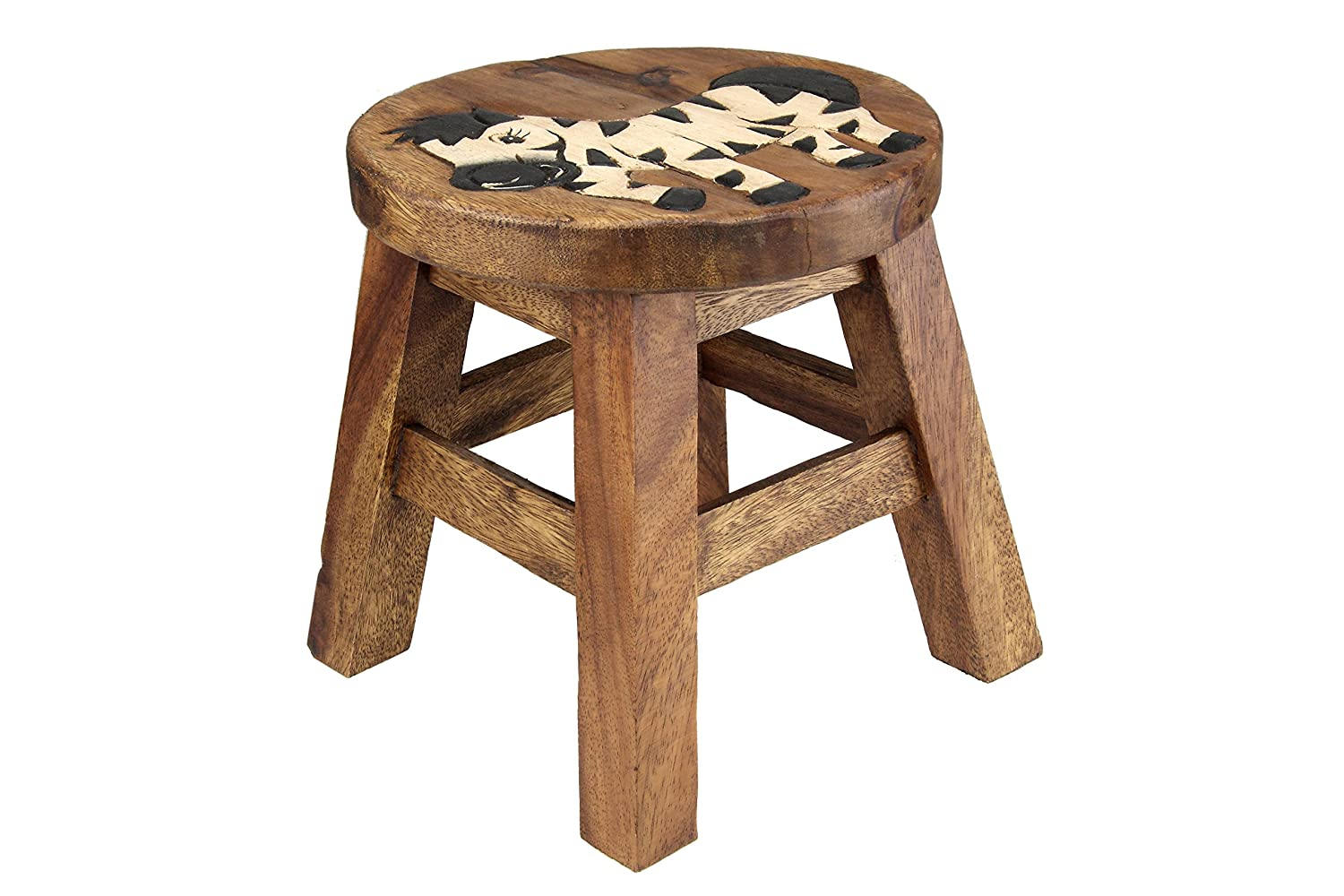 Apollo Wood Zebra Kids Stool, Brown 3112