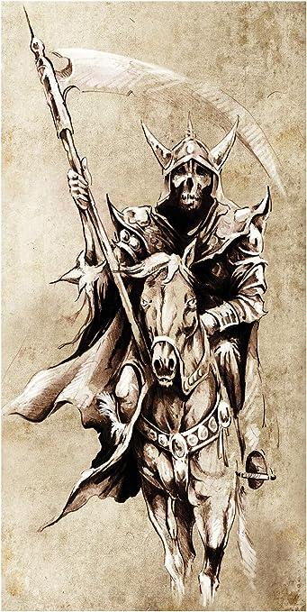 La Muerte con Hoz LimeWorks Toalla de Ba/ño Arte del Tatuaje 70x140 cm