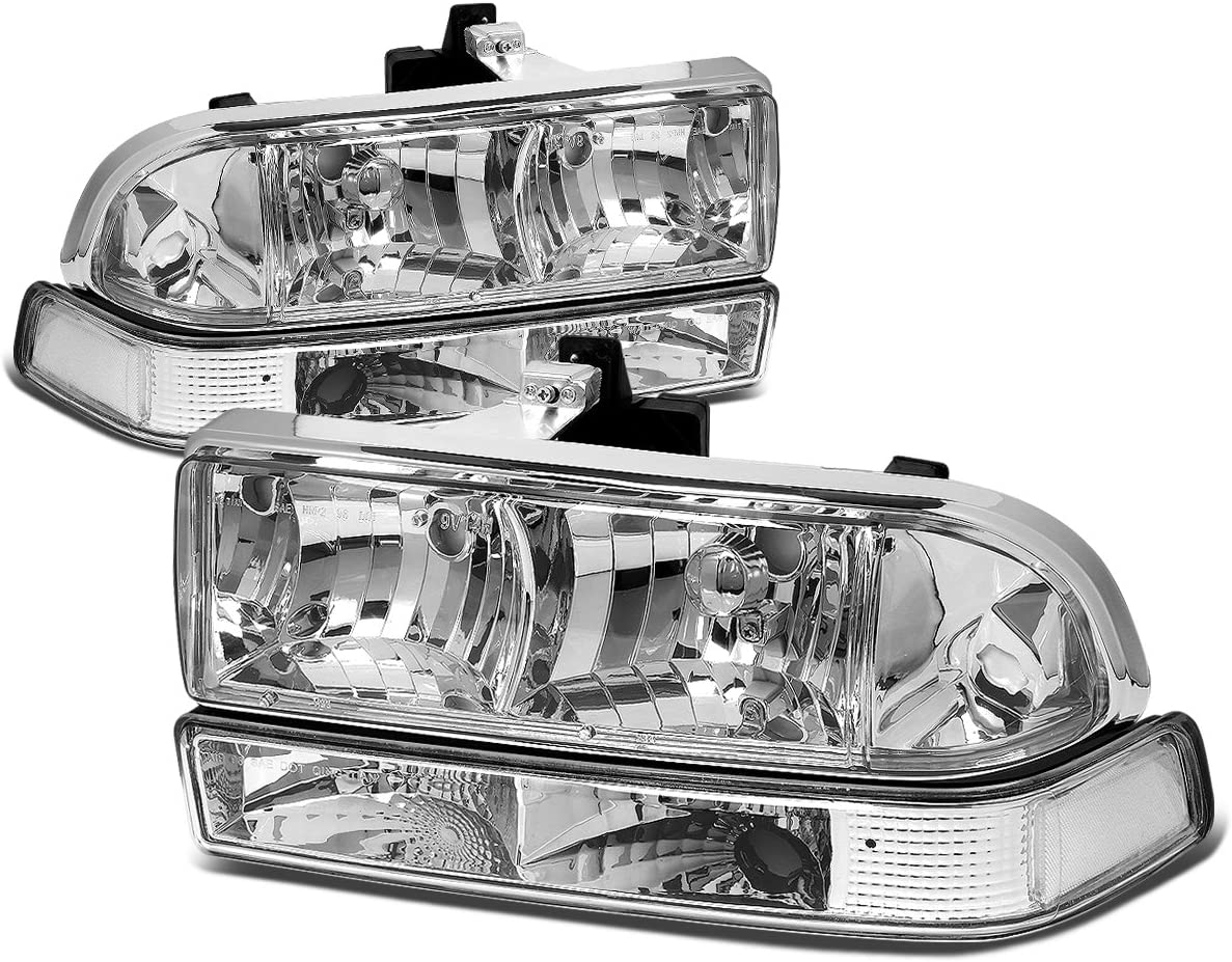 PAIR FRONT BUMPER LIGHTS CORNER TURN SIGNAL LAMPS FOR 98-05 CHEVY S10//BLAZER