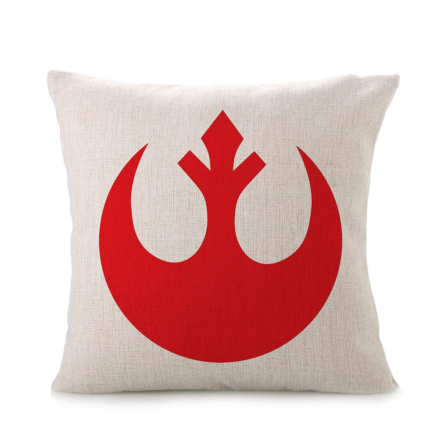 Bayyon Decorative Throw Pillow Covers Cotton Linen Cushion Star Wars Fans Covers 18 x 18 inch Rebel Alliance