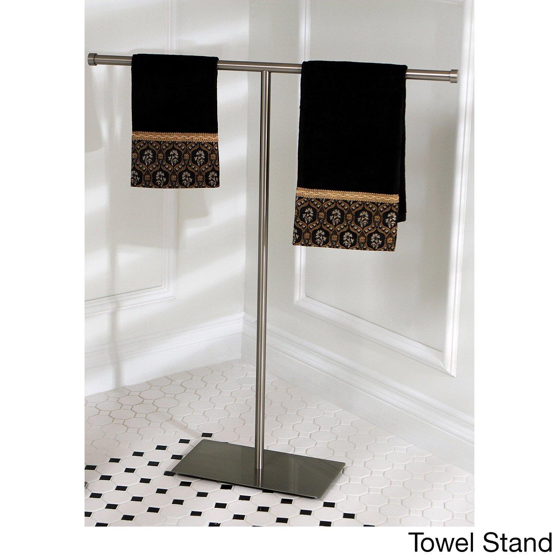 Kingston Brass Modern Satin Nickel Freestanding Bathroom Accessories Towel Stand