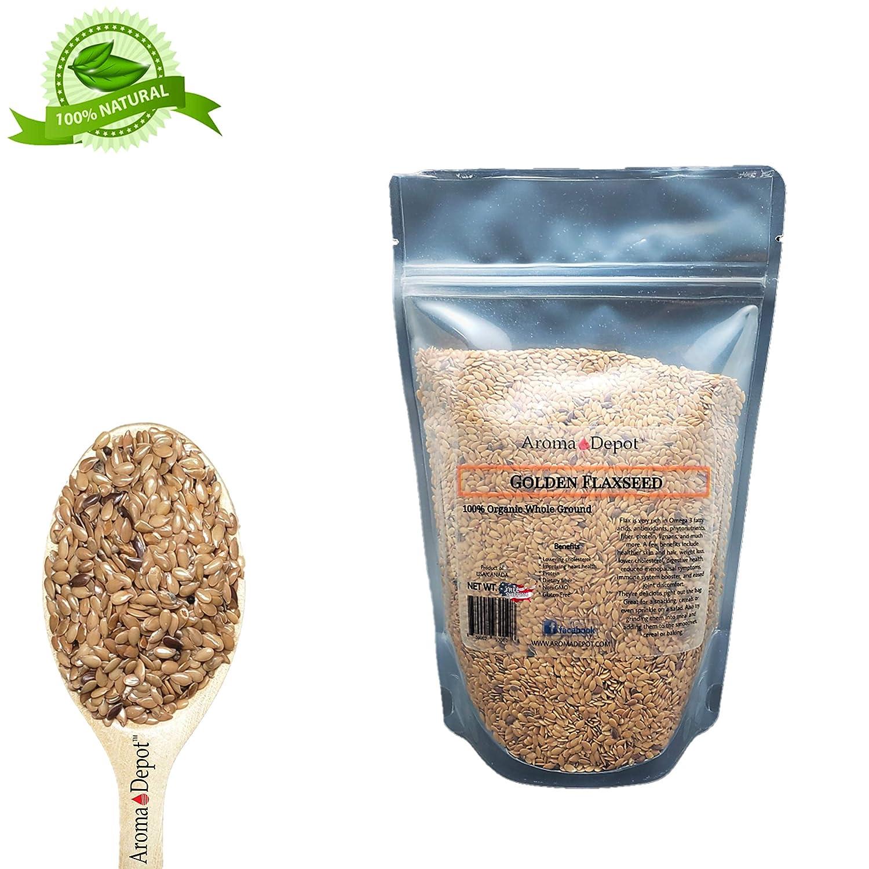 Raw Whole Golden – Sierra de lino marrón, sin OMG, vegano y ...