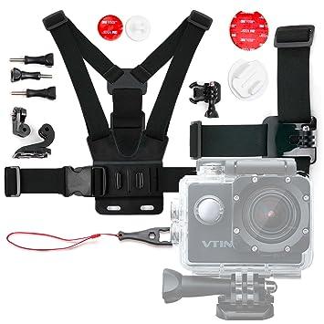 DURAGADGET Kit de Accesorios para Cámara Deportiva Elephone ELE Explorer Elite NTK96660 | Topjoy F60 4K