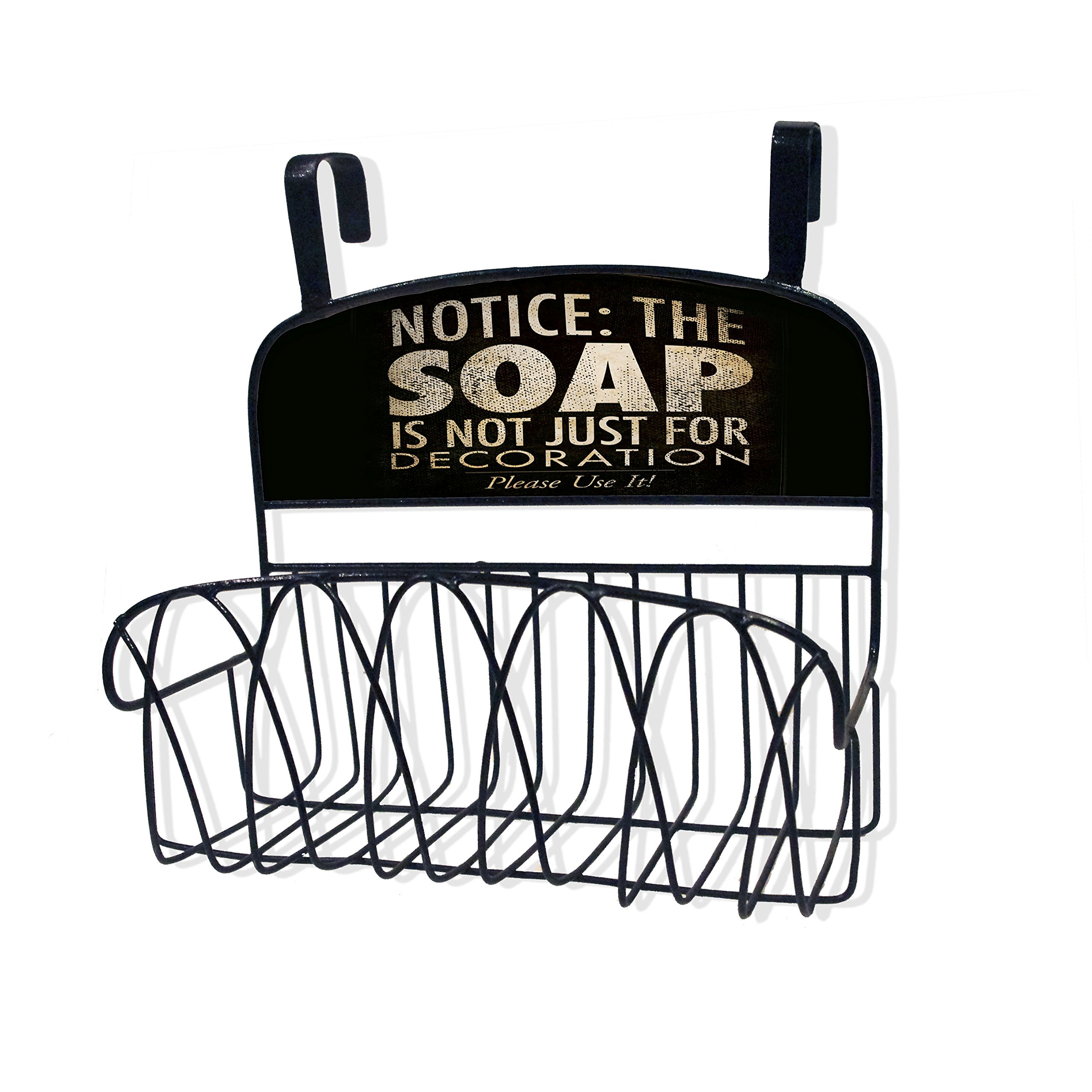 Stupell Home Décor Soap Is Not Just For Decoration Over The Door Organizer Basket, 11 x 11 x 6, Proudly Made in USA