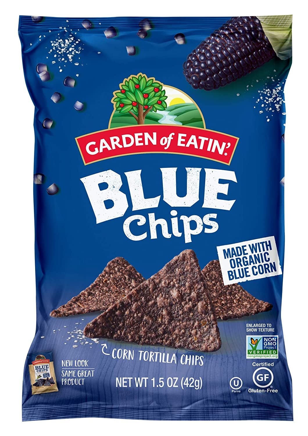 Garden of Eatin' Blue Corn Tortilla Chips, 1.5 oz. (Pack of 24) (Packaging May Vary)