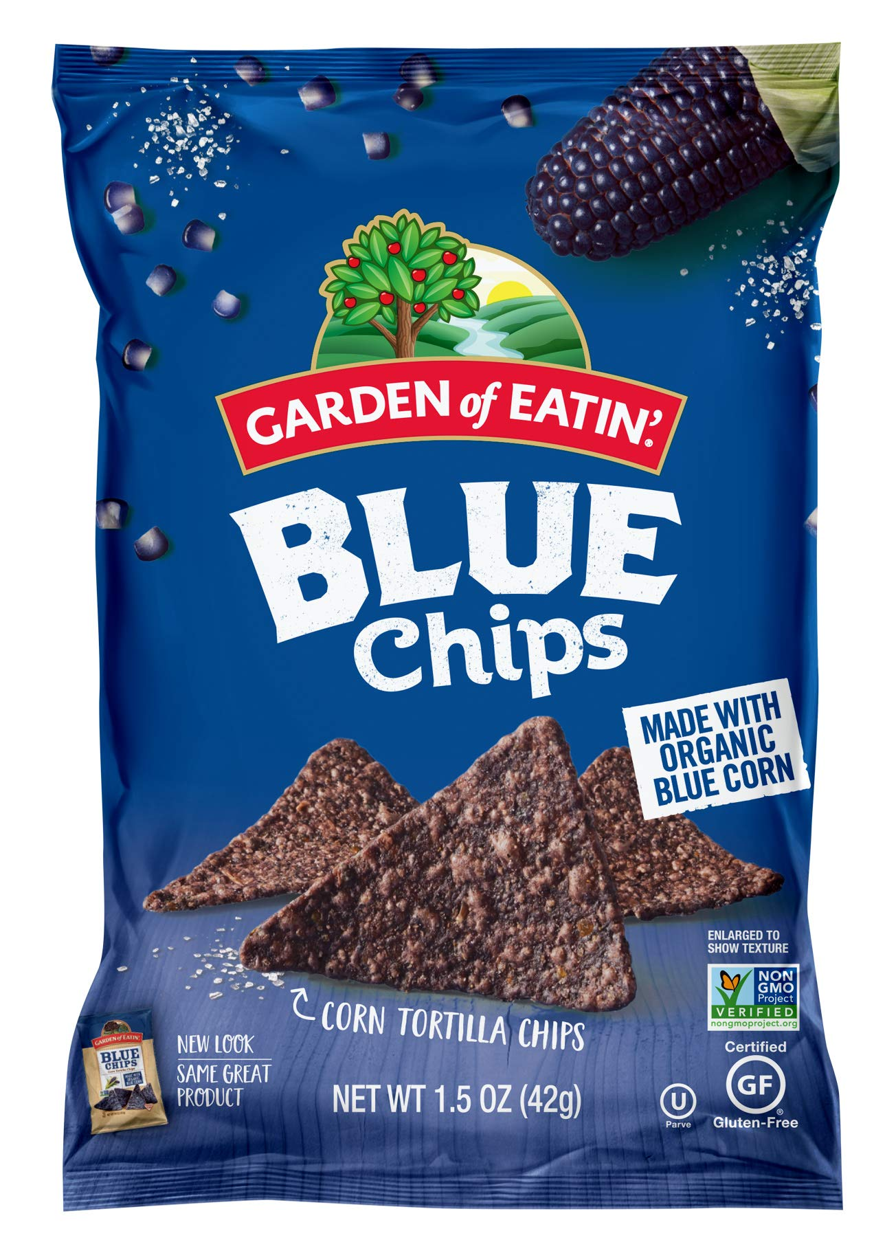 Garden of Eatin' Blue Corn Tortilla Chips, 1.5 oz. (Pack of 24) (Packaging May Vary) by Garden of Eatin'