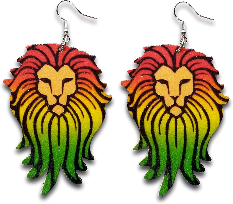 - Pashal Large Natural Wooden Majestic African Bohemian Lion King