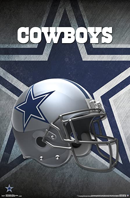 Trends International Dallas Cowboys Helmet Wall Poster 22.375u0026quot; ...