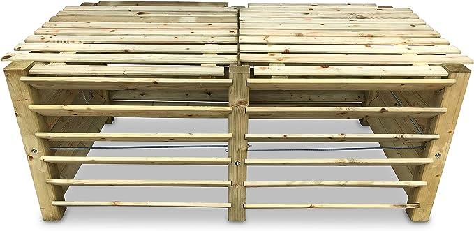 Doppio-Compostatore brettkomposter in legno 188x100x80 cm-circa 1300 L