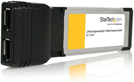 StarTech.com 2 Port ExpressCard Laptop 1394a FireWire Adapter Card - Texas Instruments FireWire Card - Laptop FireWire Card (EC13942)