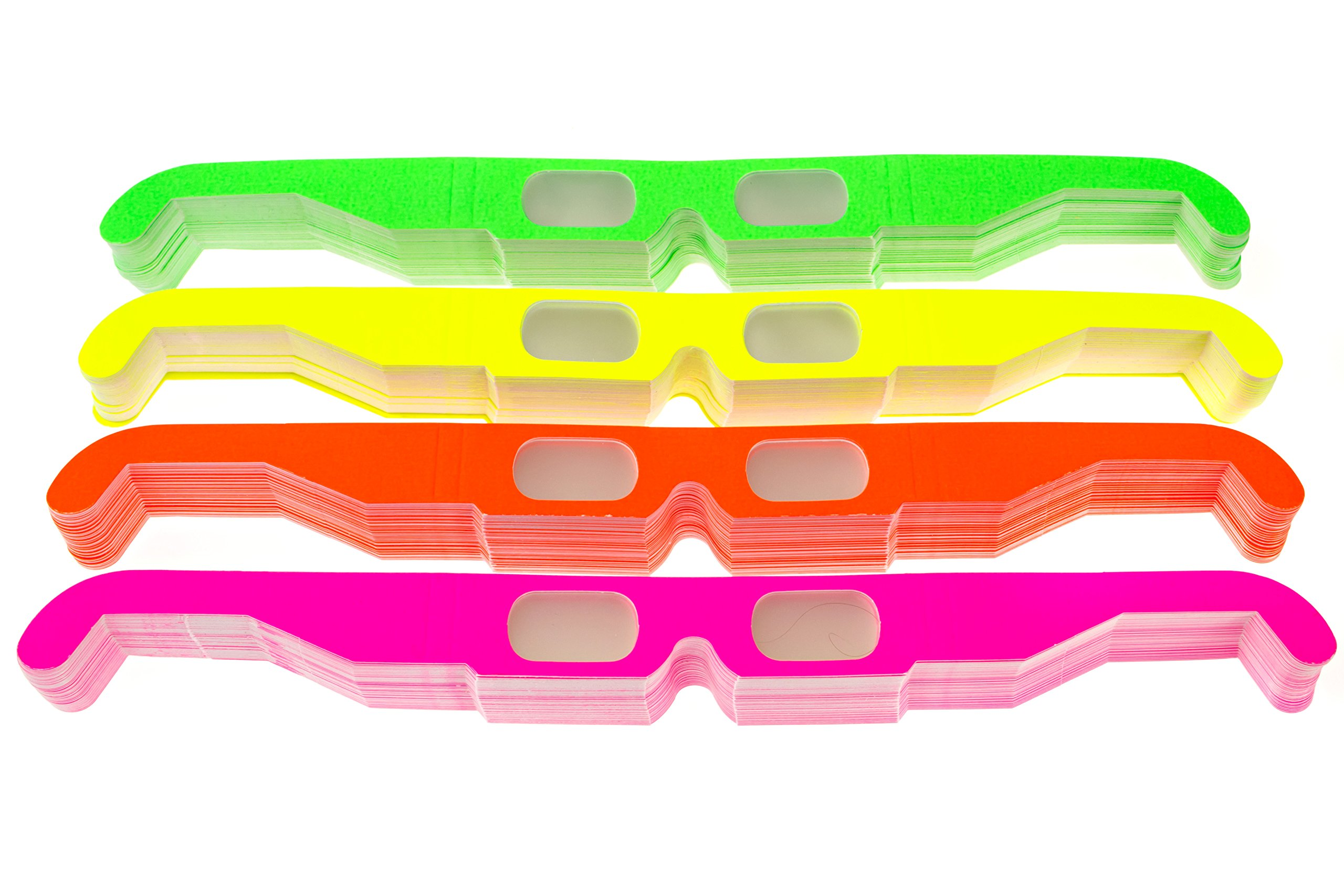 Paper Diffraction Glasses (Assorted Neon, 50 Pairs)