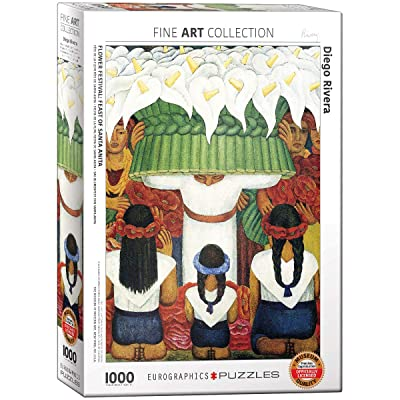 EuroGraphics Flower Festival by Diego Rivera (1000 Piece) Puzzle: Toys & Games